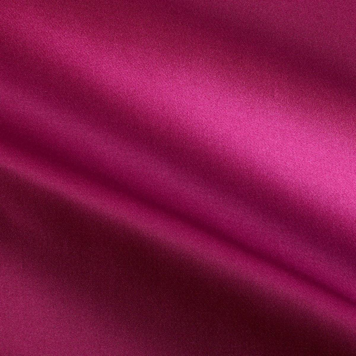 Curtains in savoy silk fabric cyclamen pink 31504 14 for Satin fabric