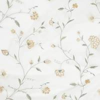 Climbing Floral Fabric - French Grey