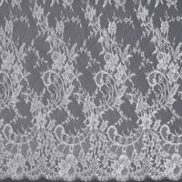 French Lace Fabric - Silver