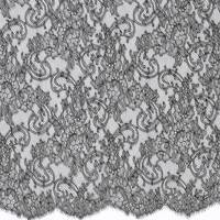 French Paisley Lace Fabric - Black