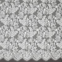 Leavers Lace Fabric - Crystal