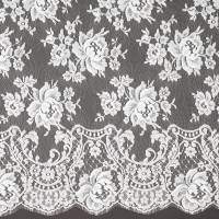 French Leavers Lace Fabric - Ivory