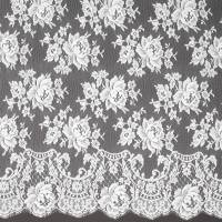 French Leavers Lace Fabric - White