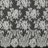 French Leavers Lace Fabric - Sea Pearl