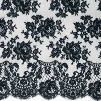 French Leavers Lace Fabric - Black