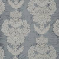 Westbourne Damask Fabric - Nordic Blue