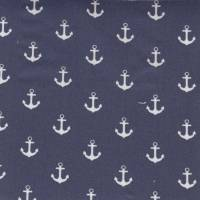Anchors Fabric - Navy