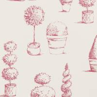 Topiary Fabric - Raspberry