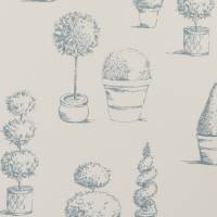 Topiary Fabric - Wedgewood