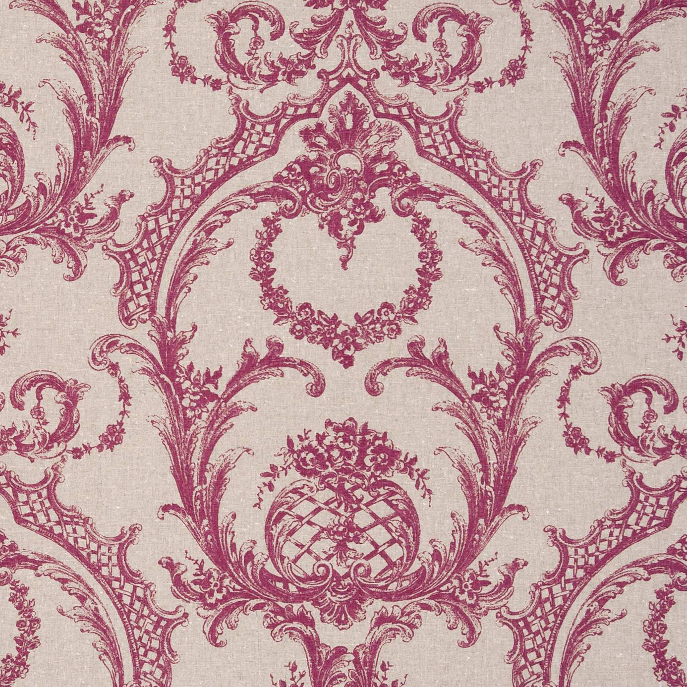 Lilou Fabric Pink F0769 02 Clarke Amp Clarke Fougeres