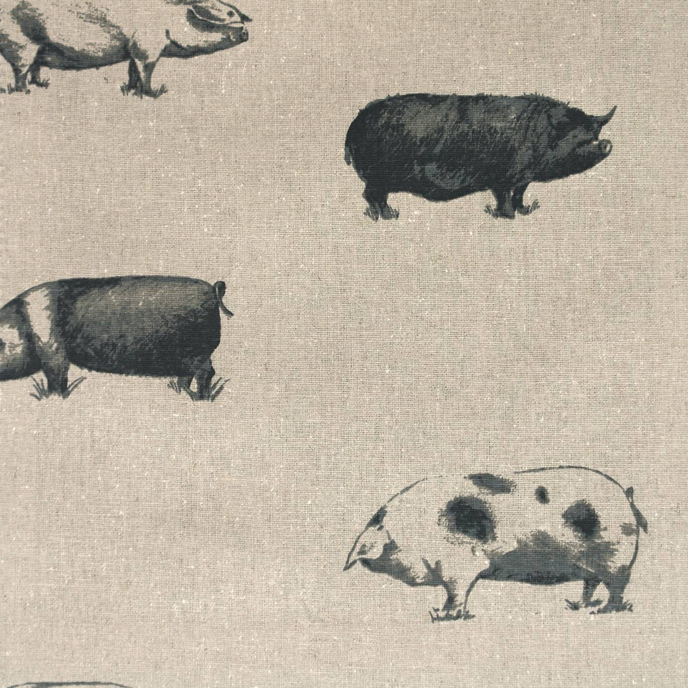 Pigs Fabric Noir F0772 01 Clarke Amp Clarke Fougeres