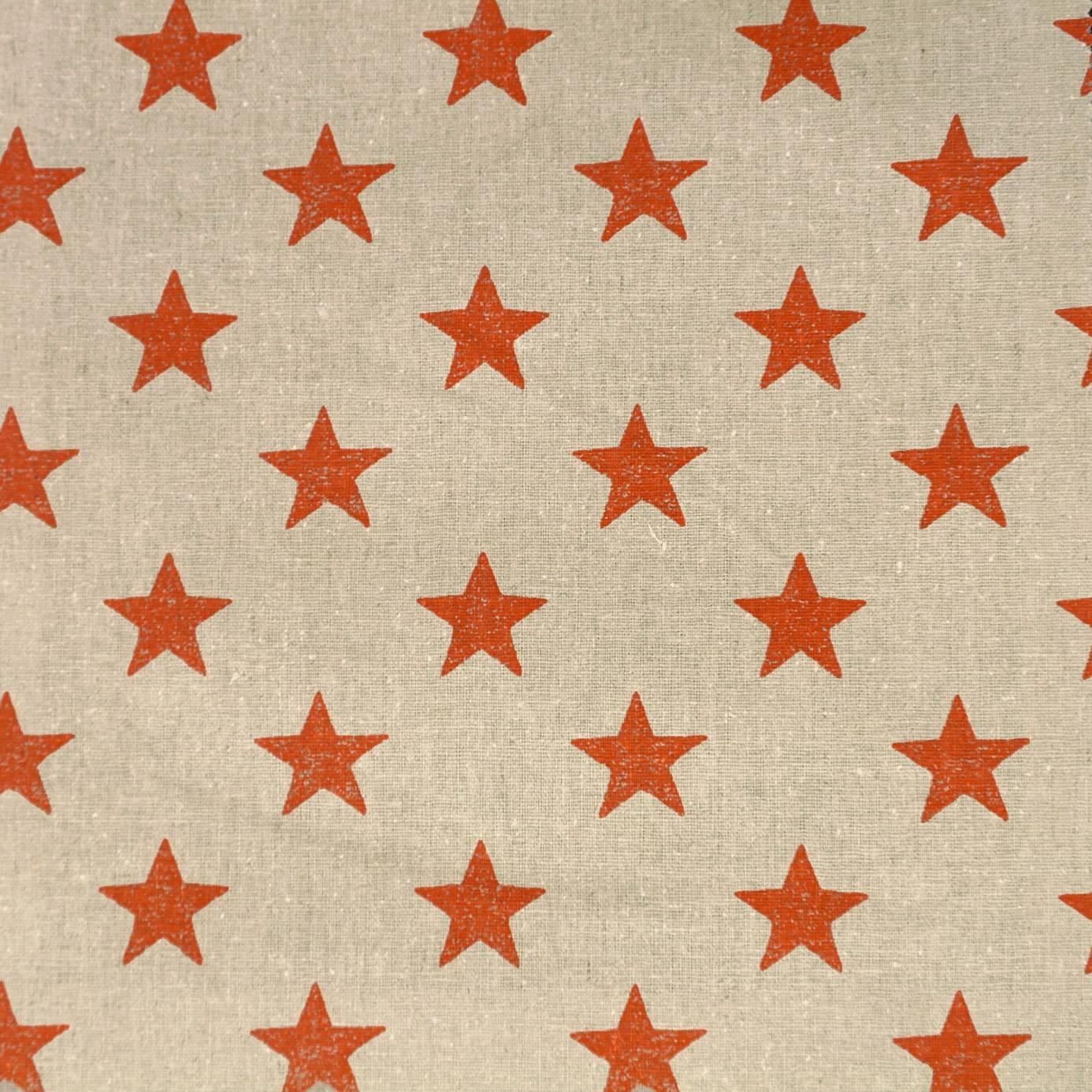 Stars Fabric Orange F0775 07 Clarke Amp Clarke