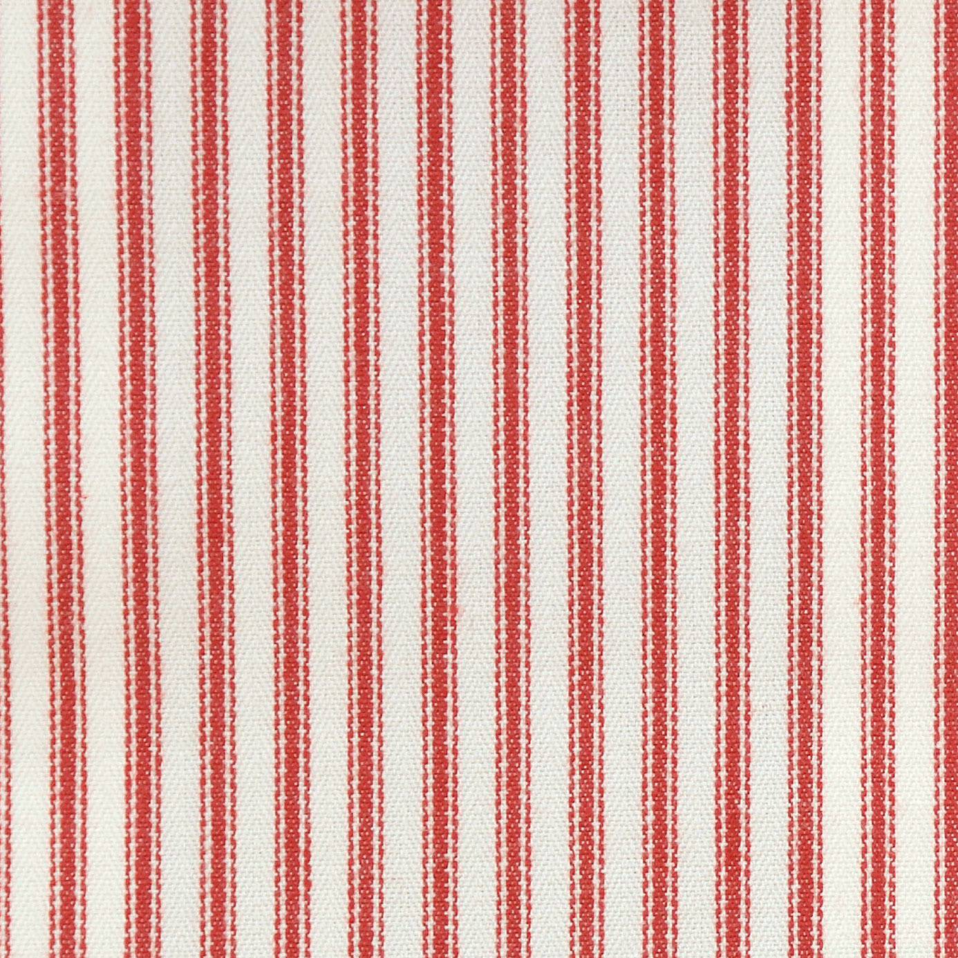 Sutton fabric red f0420 06 clarke clarke ticking for Ticking fabric