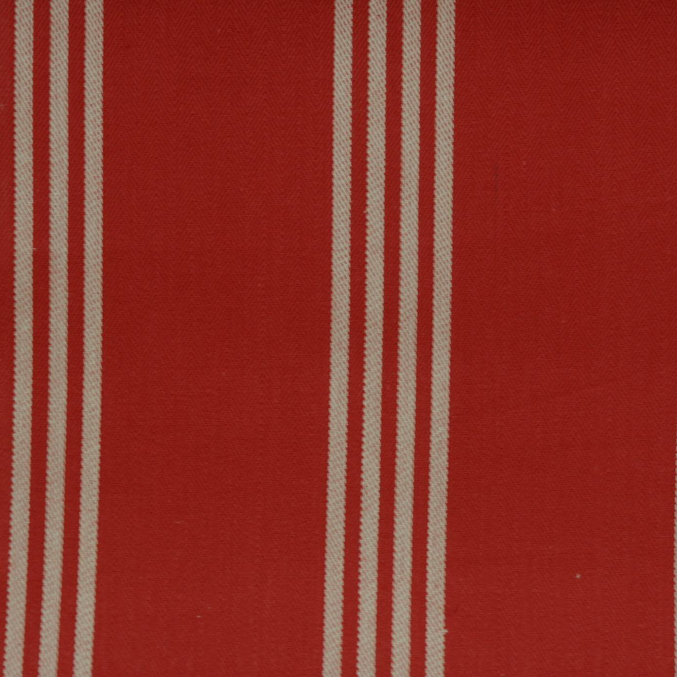 Marlow fabric red f0422 05 clarke clarke ticking for Ticking fabric