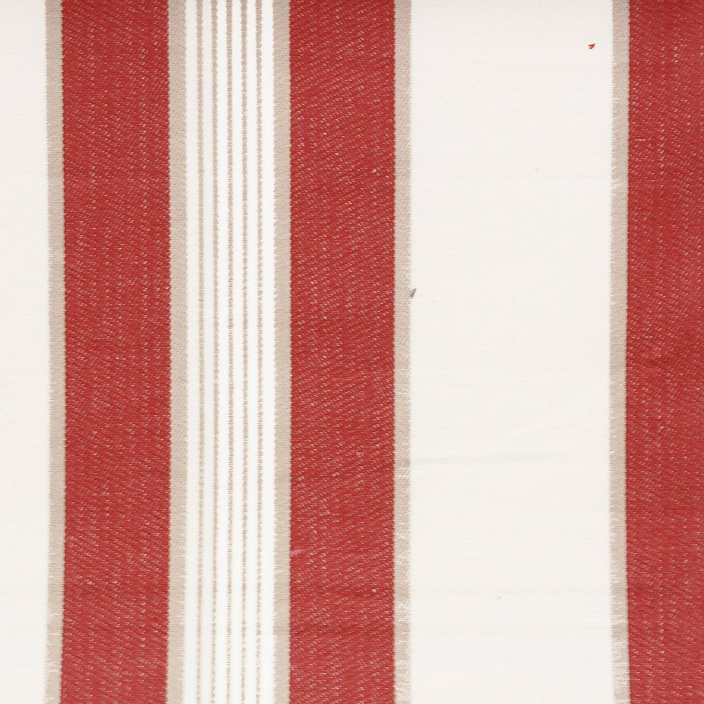 Regatta fabric red f0423 04 clarke clarke ticking for Ticking fabric
