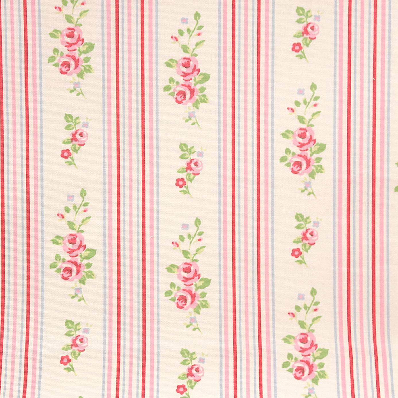 Clarke & Clarke Vintage Classics Fabrics Floral Stripe Fabric - Chintz ...