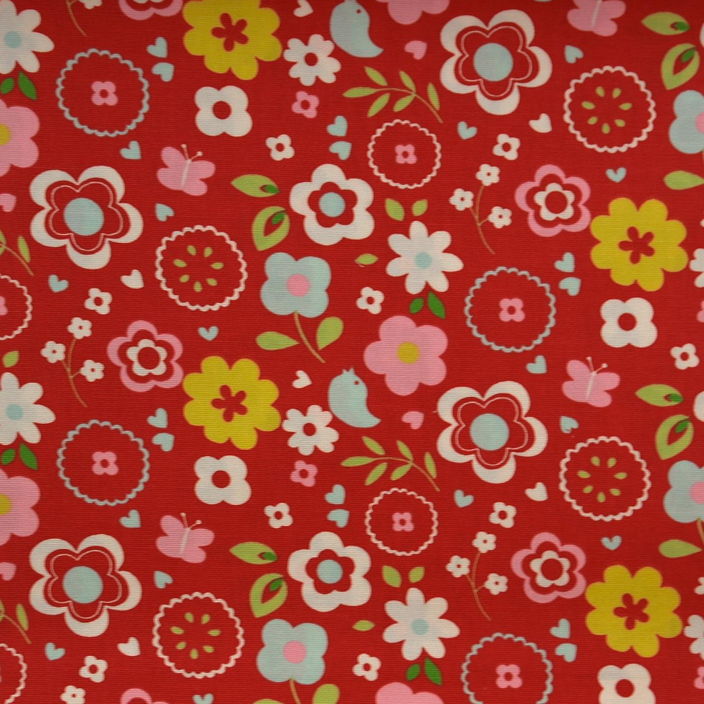 Retro floral fabric multi f0298 03 clarke clarke for Retro fabric
