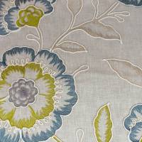 Richmond Fabric - Teal/Acacia