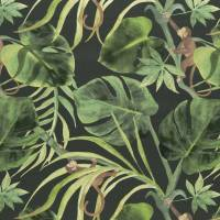 Monkey Business Fabric - Charcoal