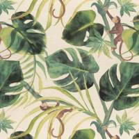 Monkey Business Fabric - Natural