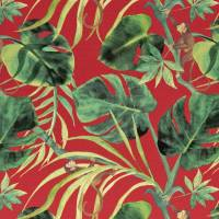 Monkey Business Fabric - Rouge