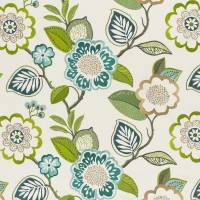 Beaulieu Fabric - Aqua/Citron