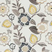 Beaulieu Fabric - Charcoal/Chartreuse