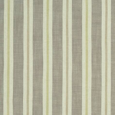 Clarke & Clarke Castle Garden Fabric Sackville Stripe Fabric - Citron/Natural - F1046/01 - Image 1