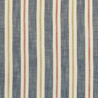 Sackville Stripe Fabric - Midnight/Spice