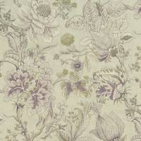 Sissinghurst Fabric - Heather/Olive