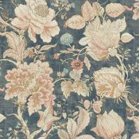 Sissinghurst Fabric - Midnight/Spice