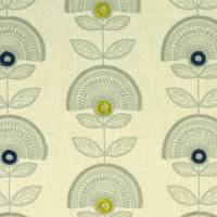 Calista Fabric - Denim/Citron