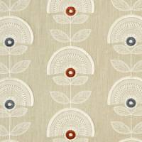 Calista Fabric - Spice/Natural