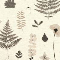Herbarium Fabric - Charcoal/Natural