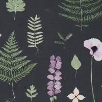 Herbarium Fabric - Heather/Ebony