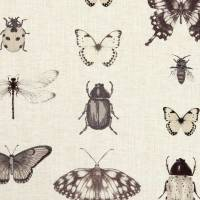 Papilio Fabric - Charcoal/Linen