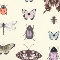Papilio Fabric - Heather/Ivory