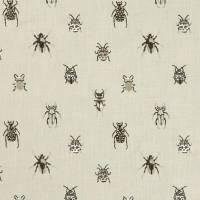 Beetle Fabric - Charcoal/Natural