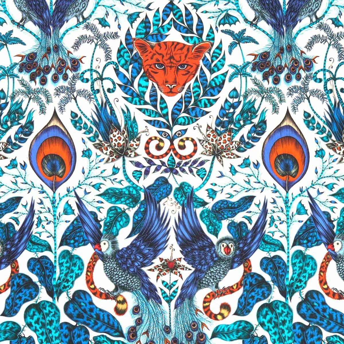 Emma J Shipley Amazon Fabric Blue F1107 01 Clarke