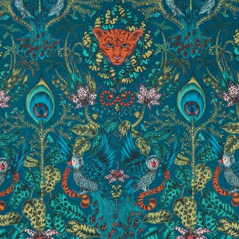 Clarke & Clarke Emma J Shipley for Clarke and Clarke Animalia Fabrics Emma J Shipley Amazon Fabric - Navy - F1107/03