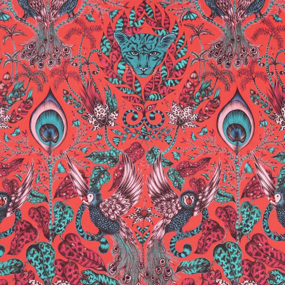 Emma J Shipley Amazon Fabric Red F1107 05 Clarke