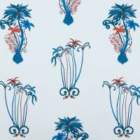 Emma J Shipley Jungle Palms Fabric - Blue