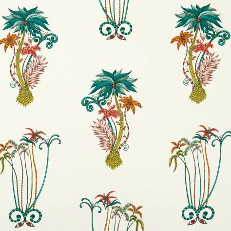 Clarke & Clarke Emma J Shipley for Clarke and Clarke Animalia Fabrics Emma J Shipley Jungle Palms Fabric - Jungle - F1110/02