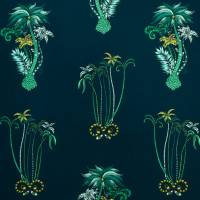 Emma J Shipley Jungle Palms Fabric - Navy