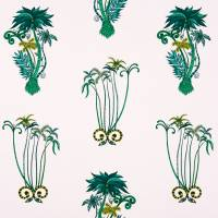 Emma J Shipley Jungle Palms Fabric - Pink