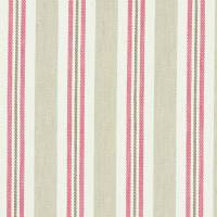Alderton Fabric - Raspberry/Linen