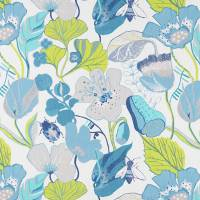 Lotus Fabric - Apple/Denim