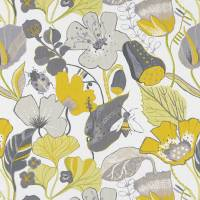 Lotus Fabric - Chartreuse/Charcoal