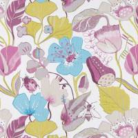 Lotus Fabric - Damson/Jade
