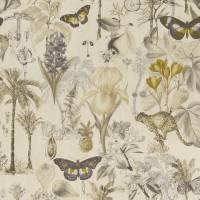 Botany Fabric - Charcoal/Chartreuse